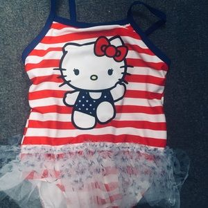 Hello kitty 4th of July Ready girls swim
